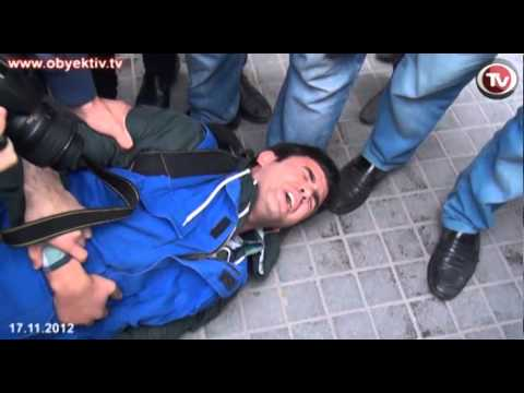 POLICE VIOLENTLY DISPERSE OPPOSITION RALLY IN CENTRAL BAKU