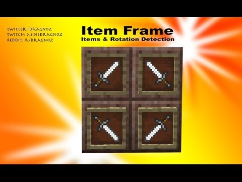 Item Frame item and rotation detection in Minecraft - YouTube