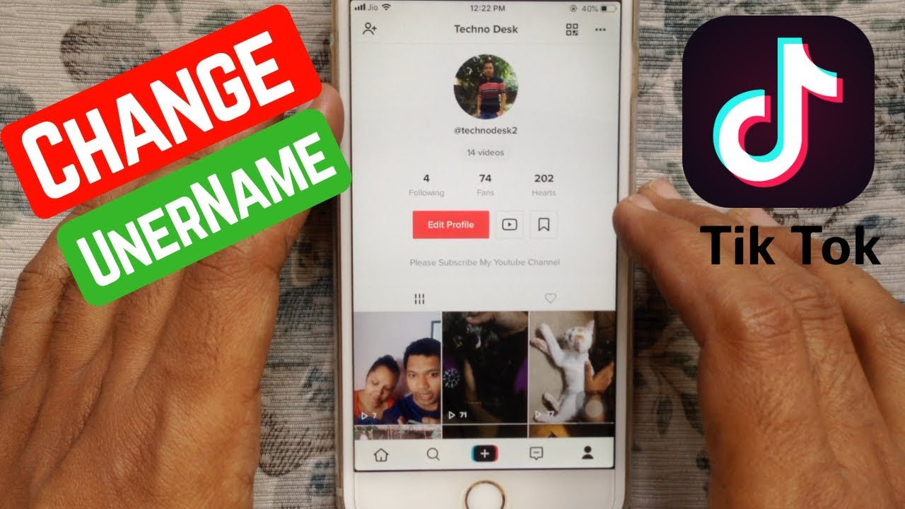 How To Change Username In Tik Tok Youtube