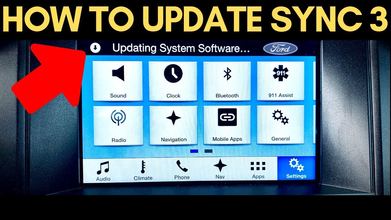 How To Update Ford Sync 3 To The Latest Version Usb Youtube