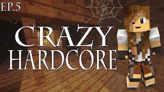 OPUSZCZONA KOPALNIA | Crazy hardcore #5 | Minecraft Hardcore 1.14.4