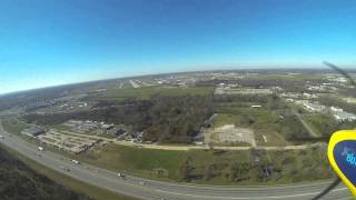 Landing on 24L at Dayton International Airport