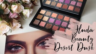 Huda Beauty Desert Dusk GRWM - mature/hooded eyes