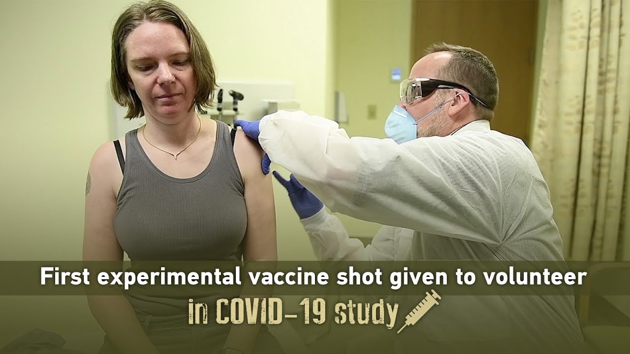 First experimental vaccine shot given to volunteer in COVID-19 ...