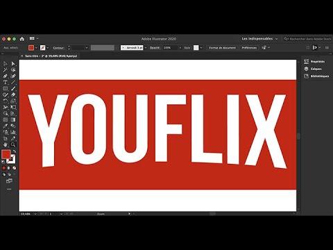 Courber un logo à la YouFlix
