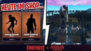 TODAY at Fortnite Shop 😍 Fortnite x Stranger Things Skin