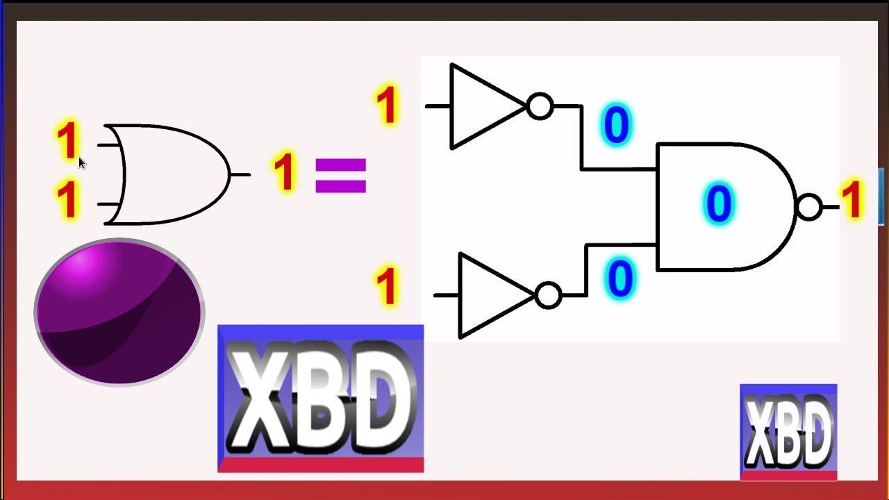 Circuito Xor Equivalente : Circuito electronico digital diagrama equivalente xbd youtube