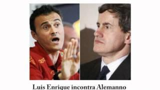Alemanno incontra Luis Enrique