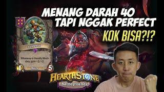 Darah gue 40 tapi ngga PERFECT WIN, kok bisa?!? JUNKBOT OP!!   Hearthstone Battleground Indonesia