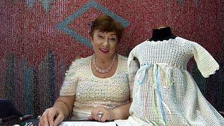 Крестильное платье \Торжество\. Мастер-класс по вязанию крючком от О. С. Литвиной.