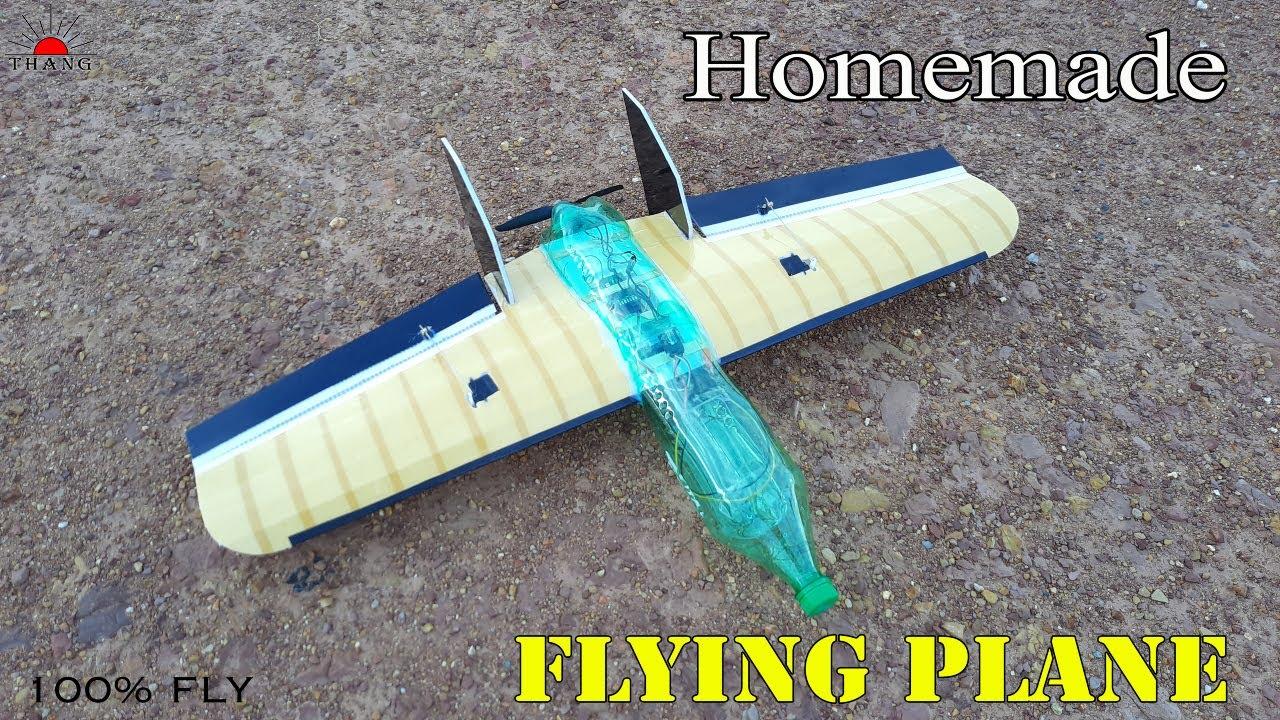 Download How to make flying Plastic Bottle Rc Wing Plane   FT Goblin