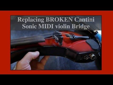 Replacing broken Cantini Sonic MIDI Violin Bridge