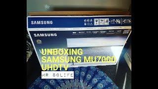 "Unboxing Samsung MU7000 49"" UHDTV"