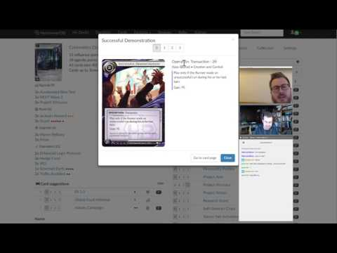 Install, Advance, Take a Credit - Live Streaming Beautiful Netrunner Decks