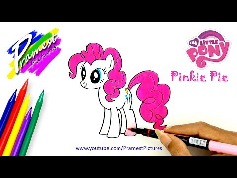 How To Draw Pinkie Pie | My Little Pony Coloring Pages For Kids