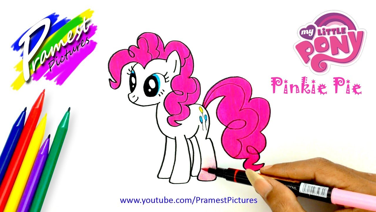 How To Draw Pinkie Pie My Little Pony Coloring Pages For Kids