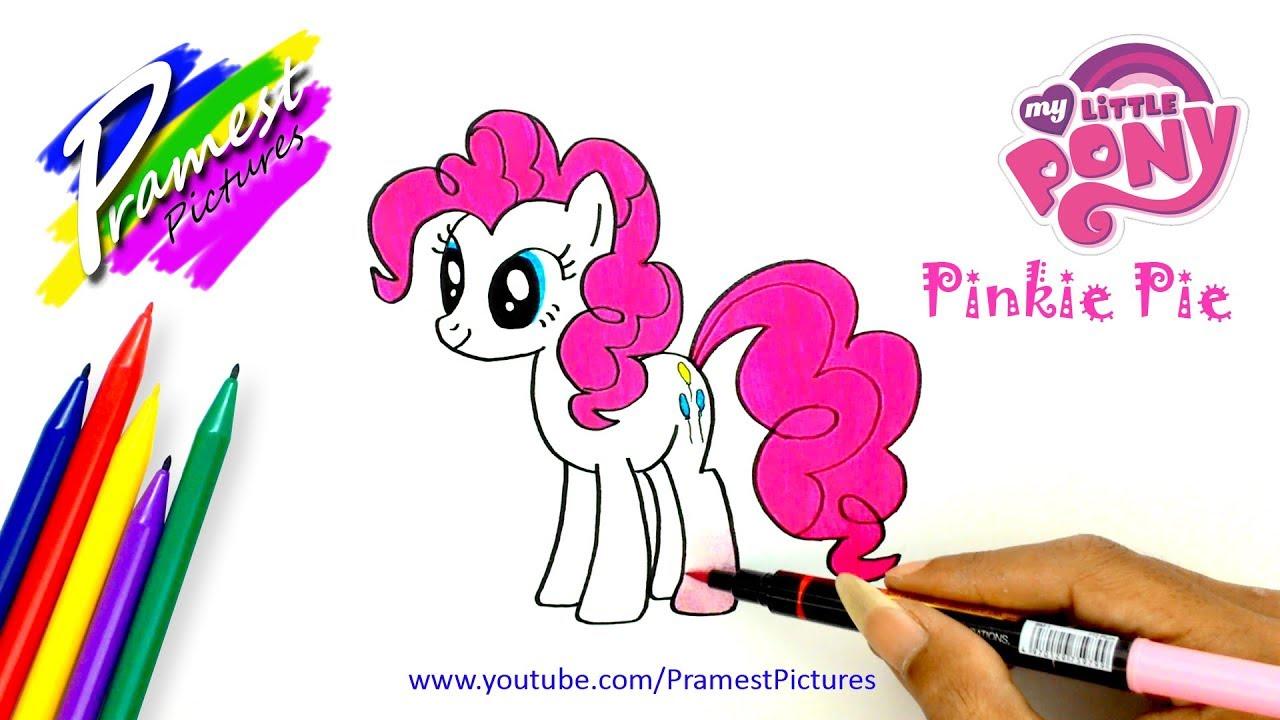 Pinkie Pie Cara Menggambar Dan Mewarnai Gambar Kuda Poni Untuk Anak Youtube