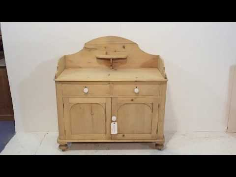 Small Victorian Pine Bathroom Cupboard - Pinefinders Old Pine Furniture Warehouse