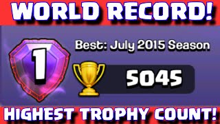 Clash Of Clans BEST PLAYER IN THE WORLD | #1 Highest Trophy Record Holder / Top Player In CoC