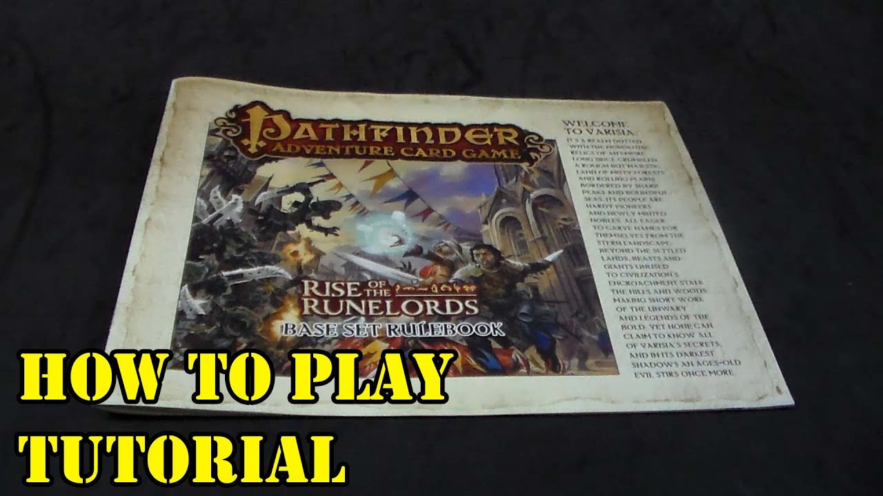 Pathfinder Adventure Card Game Tutorial Youtube