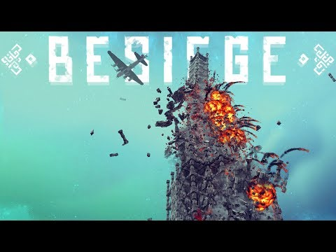 Besiege - B 17 Flying Fortress Bomber, Fully Destructible Tower & More! - Best Besiege Creations