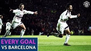 Every Goal | Manchester United v Barcelona | Beckham, Rooney, Scholes, Giggs