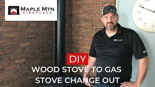 DIY Wood Stove to Gas Stove Change Out