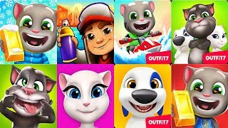 Talking Tom Gold Run - Talking Hank Talking Tom Talking Angela Tom jetski 2 vs Subway Surfers