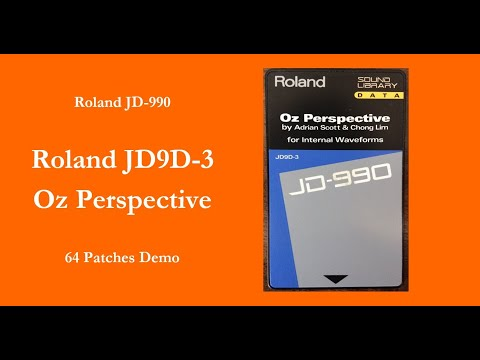 Roland JD9D-3 Oz Perspective - 64 Patches Demo - 100% sound - no talking