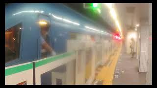 【東京メトロ千代田線】 小田急60000形60255F+60052F(MSE) 特急 メトロはこね91号・メトロえのしま91号 箱根湯本・片瀬江ノ島行き 表参道到着
