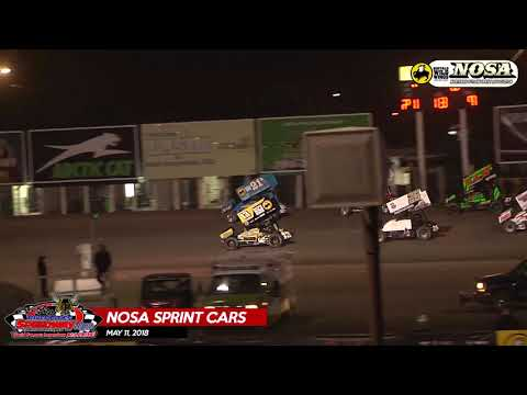 NOSA Sprint Car Highlights - River Cities Speedway - May 11, 2018