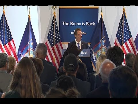 Governor Cuomo Makes An Announcement At Bronx Museum Of The Arts
