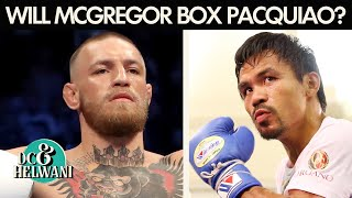 Reaction to Conor McGregor saying he'll box Manny Pacquiao | DC & Helwani | ESPN MMA