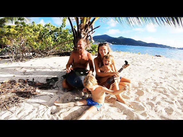 Caribbean FUN in Sandy Island - Meet a BABY SHARK!
