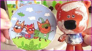 Ми-ми-мишки Три Кота СУПЕРГЕРОИ и Гипсовый Медведь ВАЛЕРКА