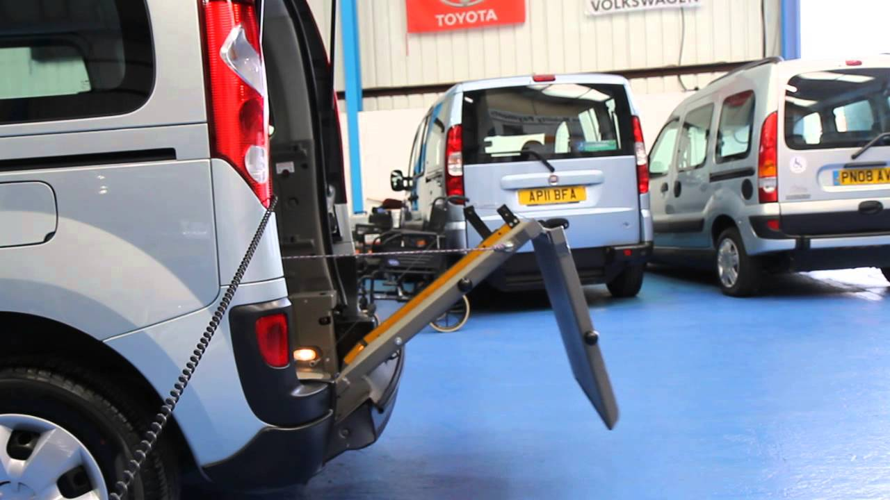 renault tech kangoo auto power wheelchair ramp youtube