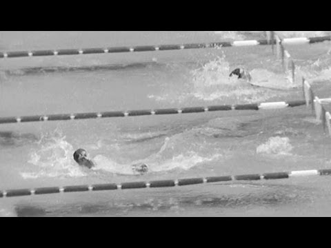 Roland Matthes Dominates Olympic Backstroke For Gold - Mexico 1968 Olympics