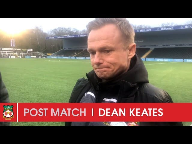 WATCH | Dean Keates after Bromley