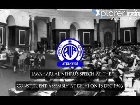 Jawaharlal Nehru | Speech In Constituent Assembly At Delhi On 13 December 1946 (With Subtitles)