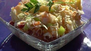 Салат из капусты, моркови и сладкого перца ''Осенний''