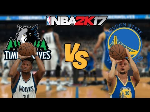 NBA 2K17 - Minnesota Timberwolves vs. Golden State Warriors CURRY! - Full Gameplay (Updated Rosters)