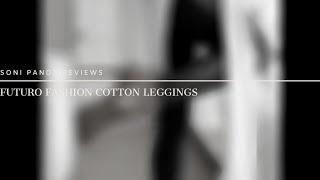Futuro Fashion Cotton Leggings With Lace Stripe