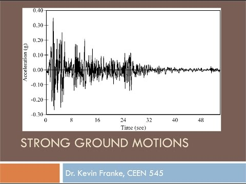 CEEN 545 Lecture 6 - Ground Motion Parameters and Signal Processing