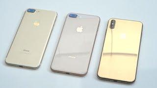 iPhone XS Max dorado vs. iPhone 8 Plus y iPhone 7 Plus: Cuál luce mejor