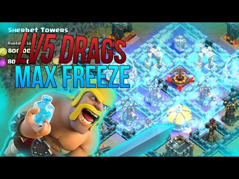 Clash of Clans | MAX BASES vs MAX FREEZE SPELLS AND LV5 DRAGONS |