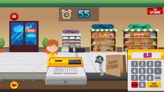 supermarket cash register learning simulator for kids