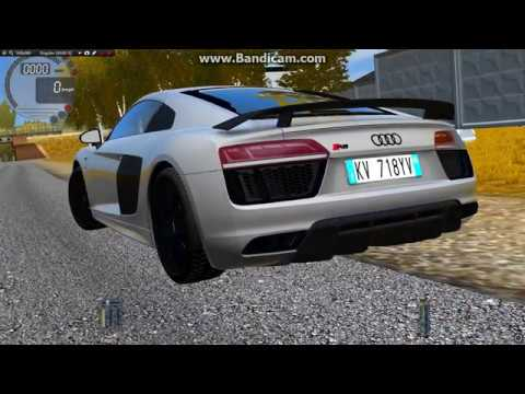City Car Driving 1.5.4 - Audi R8 V10 Plus Illegal Street Racing