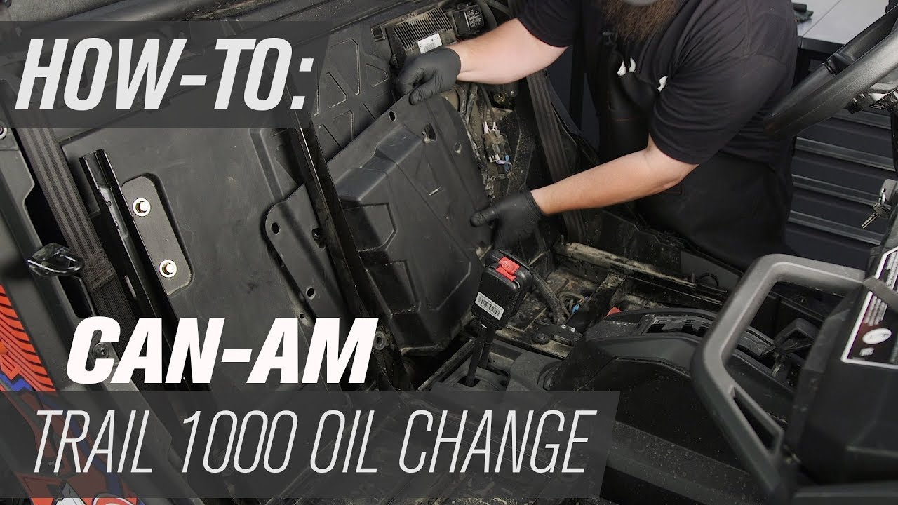 How To Change The Oil On A Can-Am Maverick Trail 800 & 1000