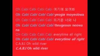 2PM & SNSD - Cabi song (with lyrics on screen HANGUL + ROMANIZATION)