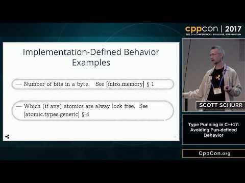 """CppCon 2017: Scott Schurr """"Type Punning in C++17: Avoiding Pun-defined Behavior"""""""